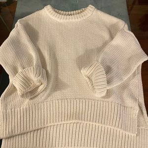 Heavy White Zara Knit Sweater